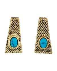 House of Harlow 1960 - Multicolor Tanta Crosshatch Stud Earrings - Lyst