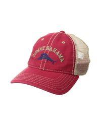 Tommy Bahama - Red Mesh Cap for Men - Lyst