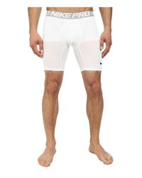 """Nike - White Pro Cool Compression 6"""" Short for Men - Lyst"""
