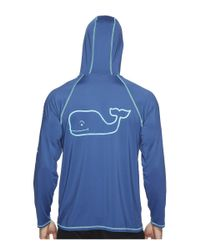 Vineyard Vines - Blue Performance Raglan Hoodie Whale Tee for Men - Lyst