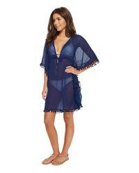Bleu Rod Beattie - Blue Gypset Caftan Cover-up (navy) Women's Swimwear - Lyst