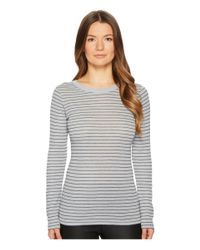 Vince - Multicolor Double Pinstripe Long Sleeve Shirttail - Lyst