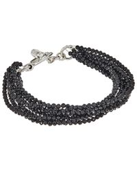 King Baby Studio - Metallic 8 Strand Spinel Bracelet W/ Mini Toggle Clasp - Lyst