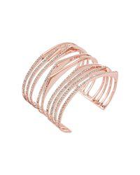 Alexis Bittar - Metallic Crystal Encrusted Origami Cuff Bracelet - Lyst