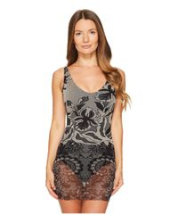Fuzzi - Black One-piece Layered Lace Bathing Suit - Lyst