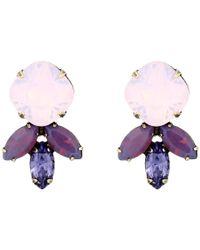 DANNIJO - Purple Luna Earrings - Lyst