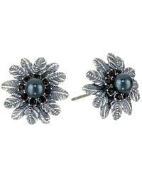 Marc Jacobs - Metallic Dark Plumes Pearl Studs Earrings - Lyst