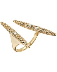 Alexis Bittar - Metallic Crystal Encrusted Modernist Spear Ring - Lyst