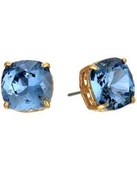 Tory Burch - Blue Tory-set Crystal Studs Earrings - Lyst
