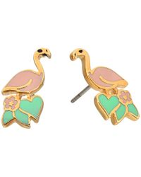 Marc Jacobs - Gray Charms Paradise Flamingo Studs Earrings - Lyst