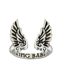 King Baby Studio - Metallic Open Ring W/ Wings - Lyst