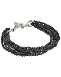 King Baby Studio | Metallic 8 Strand Spinel Bracelet W/ Mini Toggle Clasp | Lyst