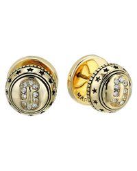 Marc Jacobs - Metallic Medallion Studs Earrings - Lyst