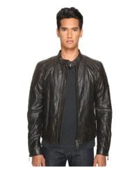 ddb348686 Lyst - Belstaff Outlaw Lightweight Hand Waxed Leather Jacket in ...