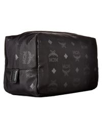 MCM - Black Dieter Monogrammed Nylon Small Cosmetic Pouch - Lyst