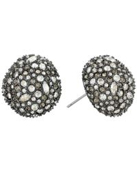 Alexis Bittar - Metallic Crystal Encrusted Button Post Earrings - Lyst