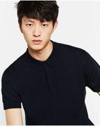 Zara | Blue Cotton Polo Shirt for Men | Lyst