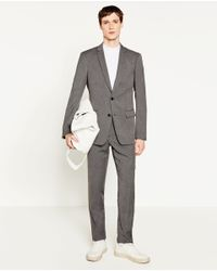 Zara | Gray Suit Trousers for Men | Lyst