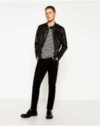 Zara | Black Faux Leather Jacket for Men | Lyst