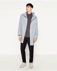 Zara   Gray Jacquard Shirt for Men   Lyst