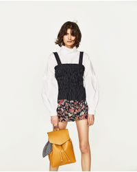 Zara | Multicolor Backpack With Scarf | Lyst