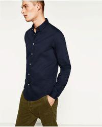 Zara | Blue Textured Weave Shirt for Men | Lyst