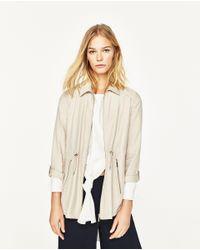 Zara | Natural Safari Jacket | Lyst