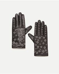 Zara | Multicolor Faux Leather Gloves | Lyst