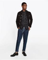 Zara | Black Check Shirt for Men | Lyst