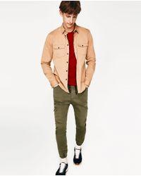 Zara | Green Soft Cargo Trousers for Men | Lyst