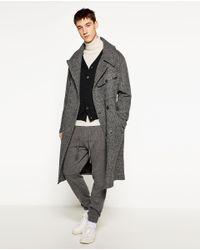 Zara | Black Merino Cardigan for Men | Lyst
