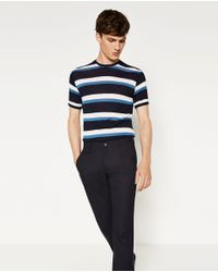 Zara   Black Straight Cut Trousers for Men   Lyst