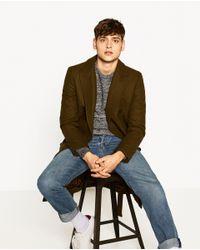 Zara   Black Twisted Yarn Sweater for Men   Lyst