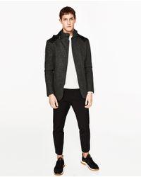 Zara | Black Blazer With Hood for Men | Lyst