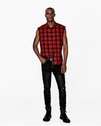 Zara | Red Check Shirt for Men | Lyst