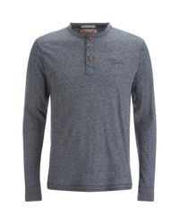 Tokyo Laundry - Blue Timber Henley Long Sleeve Top for Men - Lyst