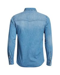 Jack & Jones - Blue Originals Rone Denim Shirt for Men - Lyst