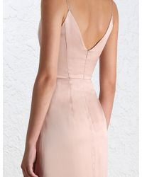 Zimmermann - Pink Asymmetric Silk Dress - Lyst