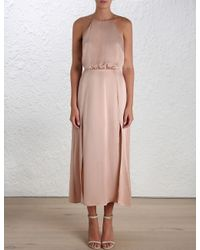 Zimmermann - Pink Sueded Picnic Dress - Lyst