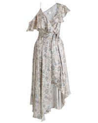 Zimmermann   Multicolor Stranded Wrap Midi Dress   Lyst