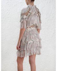 Zimmermann - Multicolor Stranded Tier Mini Dress - Lyst