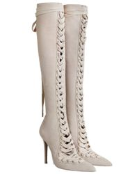 Zimmermann | Multicolor Lace Up Long Boot | Lyst