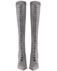 Zimmermann - Gray Lace Up Long Boot - Lyst