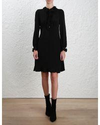 Zimmermann - Black Prim Shirt Dress - Lyst
