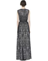 Alice + Olivia Sybil Drop V-Neck Full Length Dress black - Lyst