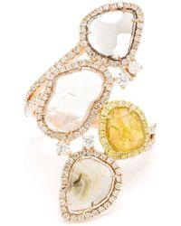 Saqqara - Diamond 'stepping Stones' Ring - Lyst