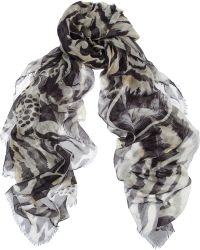 Matthew Williamson Ocelot Morris Printed Modal and Cashmereblend Scarf - Lyst