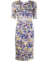 Suno All Over Tulip Cutout Dress floral - Lyst