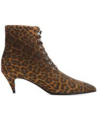 Saint Laurent Cat Suede Ankle Boots - Lyst