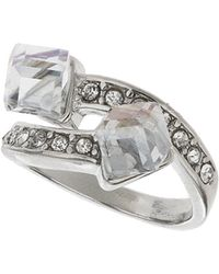 Topshop Cube Split Band Ring  Clear - Lyst